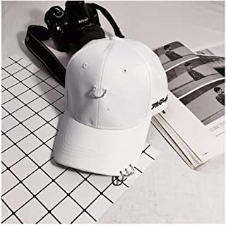Hats Outdoor Hoop Decoration Hat Lady Visor Cap Couple Baseball Cap Fashion (Color : White, Size : F)