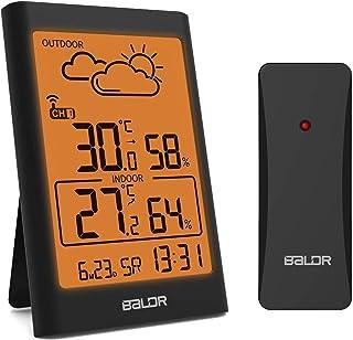 BRLDR Thermomètre hygromètre numérique d'intérieur Thermomètre hygromètre numérique avec écran LCD pour chambre à coucher,...