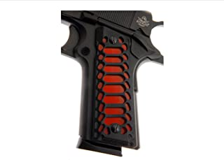 Premium Gun Grips 1911 Full Size Colt,Kimber RIA S&W Clones G10 GZS-COBRA skeletonized w/black insert and bonus red insert