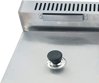 12L Gas Fryer, Commercial Stainless Steel Countertop Gas Fryer 6Lx2 Deep Fryer Natural gas/Propane Fryer 2 Pan, 6L/Pan for Fr