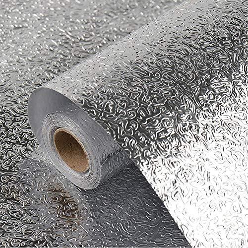 sknonr Tapete Selbstklebende Aluminium-Küchenmöbel dekorative Folie, ölbeständiger, feuchtigkeitsspendender und hitzebeständiger Möbelfilm, verwendet für die Arbeitsplattenkanschen