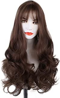 EOWEO Fashion DIY Natural Wave Wigs for Women Middle Part Heat Resistant Cosplay Wig