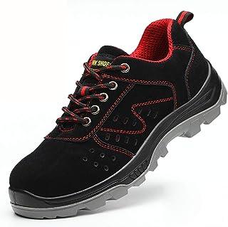 作業靴 電気絶縁滑り止めアイアンファイリングメンズ労働保険靴、皮脂防止、匂い防止、粉砕防止、ピアス防止、古い安全靴 安全靴 (色 : G g, サイズ さいず : 35)