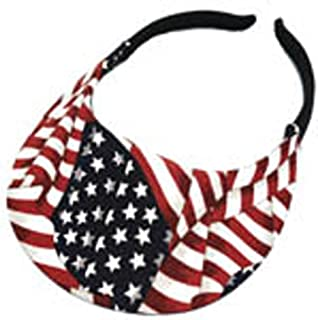 No Headache American Flag Visor