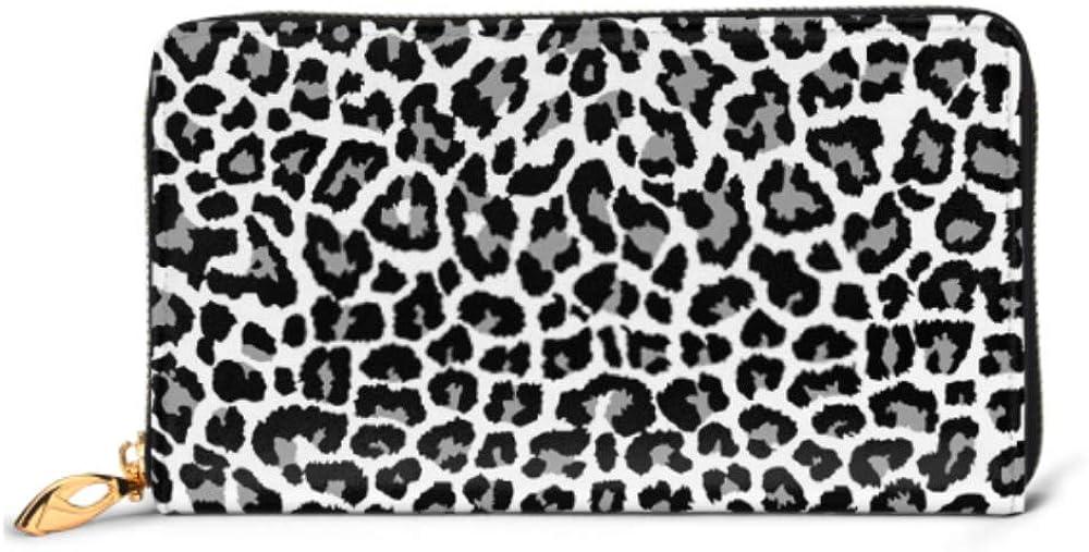 Fashion Handbag Zipper Wallet Leopard Pattern Design Vector Illustration Background Phone Clutch Purse Evening Clutch Blocking Leather Wallet Multi