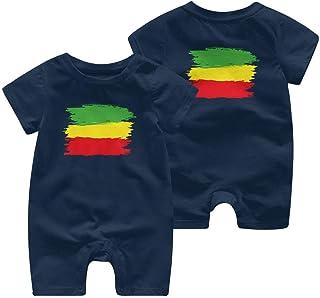 Ives Jean Baby ärmellose Bodysuits Grunge Rasta Flagge Baby Boy Mädchen Kurzarm Strampler Jumpsuit Kid Pyjamas 0-24 Monate