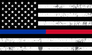 Thin Blue Line and Red Line Lives Matter Flag Car Decal Bumper Sticker Support Law Enforcement Police Officers and Firefighter Flags