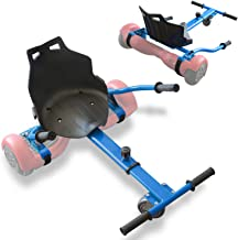 TPS Universal Hoverboard Seat Attachment Hover Board Go Kart with Adjustable Frame Length Compatible with Most Hoverboard ...