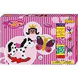 Hama - 8713 - Loisirs Créatifs - Boîte Cadeau Géante Perles à Repasser - Taille Maxi - Cheval À Bascule