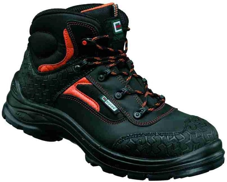 Elysee Men's Safety shoes black black, orange Abgesetzt