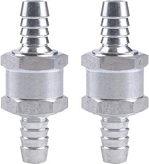 argent lot de 1 One Way Valve SENRISE 6-12 mm en alliage daluminium anti-retour Valve anti-retour pour carburant//eau//marine