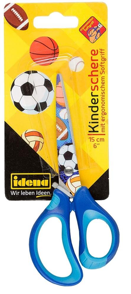 Idena 14028 Soft Scissors with Balls Motif Blue