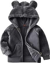 Goodkids Bear Ears Shape Fleece Warm Hoodies Clothes Toddler Zip-up Light Jacket Sweatshirt Outwear for Baby Boys Girls