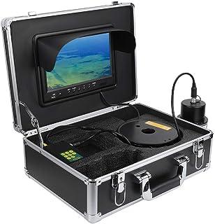 Cámara de pesca submarina de 9 pulgadas, grabadora DVR 360 ° 100m línea IP68 cámara de vídeo de pesca submarina impermeabl...