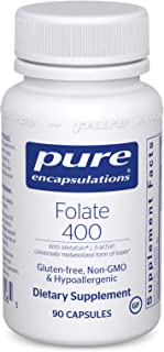 Sponsored Ad - Pure Encapsulations - Folate 400 - Hypoallergenic Supplement with Metafolin L-5-MTHF - 90 Capsules