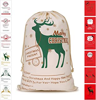 Bonison Christmas Bag Santa Sack Canvas Bag for Gifts Santa Sack Special Delivery Extra Large Size 27.6
