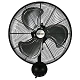 Hurricane HGC736474 20 Inch, Pro Series, High Velocity, Heavy Duty Metal Wall Mount Fan for Industrial,...