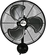 Hurricane Wall Mount Fan - 20 Inch, Pro Series, High Velocity, Heavy Duty Metal Wall Mount Fan for Industrial, Commercial, Residential, and Greenhouse Use - ETL Listed, Black
