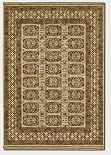 Couristan 4708/0066 Timeless Treasures Afghan Panel Area Rugs, 6-Feet 6-Inch by 9-Feet 10-Inch, Antique Cream