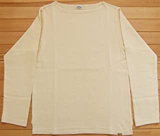 D.M.G ドミンゴ DMG 19-068N 52-8 ボートネックシャツ ライトイエロー バスクシャツ 無地 カットソー バスクT ロンT BD天竺 MadeinJAPAN 日本製