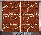 ABAKUHAUS Vías de Tren Cortinas, Vivero de Dibujos Animados de Juguete, Sala de Estar Dormitorio Cortinas Ventana Set de Dos Paños, 280 x 175 cm, Multicolor