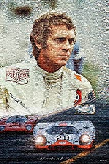 "Le Mans Mosaic (LeMans, Steve McQueen, The 24 Hours of Le-mans) Poster - (24"" X 36"") A Certified PosterOffice Print with Holographic Sequential Numbering for Authenticity"