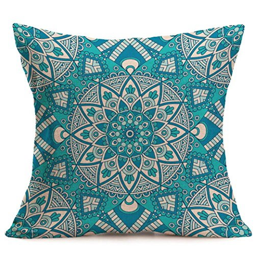 Pillow Cases,IEason Clearance! New Bohemian Pattern Throw Pillow Cover Car Cushion Cover Pillowcase Home Decor (C)