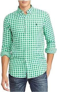 Men's Double-Face Gingham Long-Sleeve Woven Shirt
