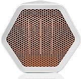 Gymqian Espacio 1000W / 600W Calentador de Cerámica, Ventilador Portátil de Temperatura Ajustable Eléctrico, Temperatura Ajustable, Protección Contra Sobrecalentamiento, para Hogar