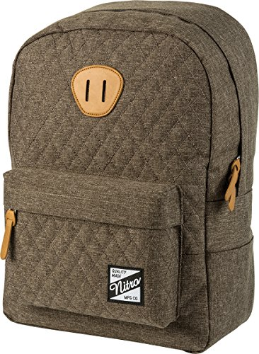 Nitro Urban Classic, Old School Daypack mit gepolstertem Laptopfach, urbaner Streetpack, Alltagsrucksack, Schulrucksack, Schoolbag, 20 L, Burnt Olive