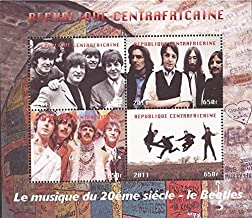 Withdrew 02/17/19-Central Africa - 2011 The Beatles, Lennon - 4 Stamp Sheet-3H-005