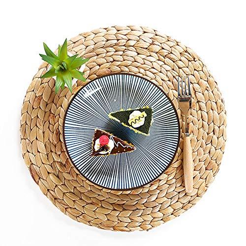 Weave Platzsets, Strohgeflecht, Wasserhyazinthe Weave Platzsets, Untersetzer, Küchenutensilien, Tischsets, 4 Packungen