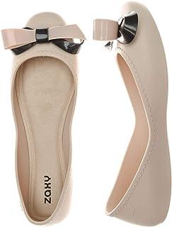 Zaxy Womens Pop Flower Pearl Shoes Contrast UK 8 Cream Ivory