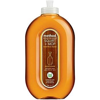 Method® Squirt + Mop Wood Floor Cleaner, Almond Scent, 25 oz Squirt Bottle