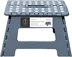 db Living Folding Step Stool Grey with Handle for Kids,Children and Adults Stepping Stool 12