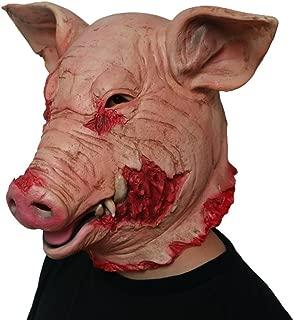 Gmask 2018 Latex Scary Pig Head Mask Halloween Costume