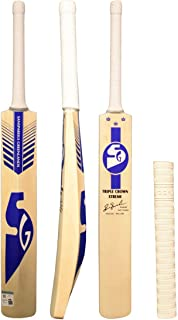 SG Triple Crown Xtreme Cricket Bat English Willow with Free Grip of Gortonshire