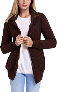 Howely Womens Chunky Fall Winter Knitted Hoode Cardigan Outwear Coat Jacket