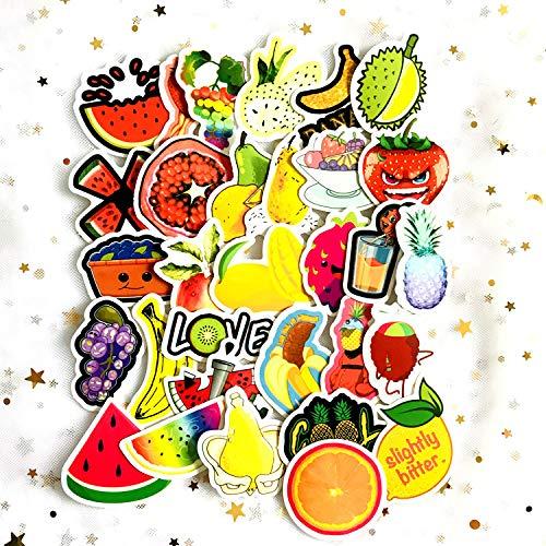 Cute Little Fresh Fruit Hand Account Sticker Mobile Phone Tablet Charging Treasure Mobile Phone Case Decorative Waterproof Sticker 31pcs