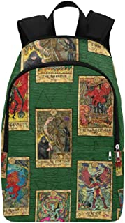 Tarot Cards Casual Daypack Travel Bag College School Backpack for Mens and Women