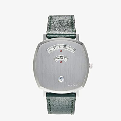 Gucci Gucci Grip (Silver Dial/Green Leather Strap) Watches