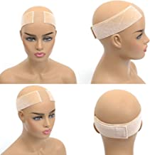 New Lace Wig Grip Non Slip Band Velvet Wig Comfort Head Hair Band Extra Hold Wig Grip Headband Adjustable Elastic Wig Band For Lace Wigs And Frontals (Lace wig grip, Beige)