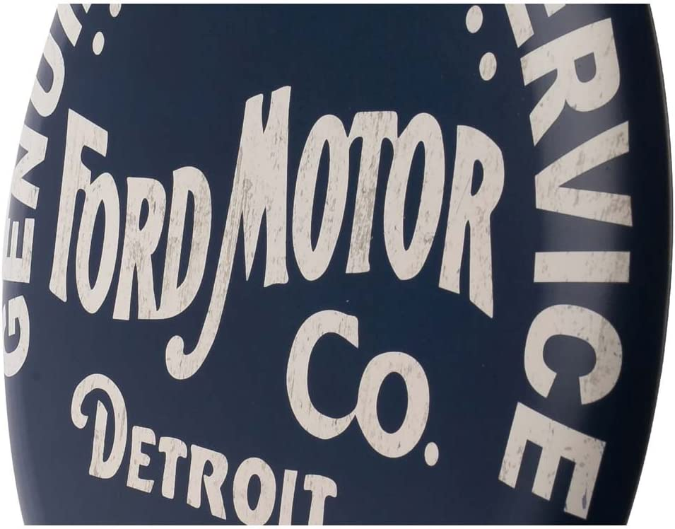 Open Road Brands Ford Built To Last Rundes Geprägtes Metallschild Bürobedarf Schreibwaren
