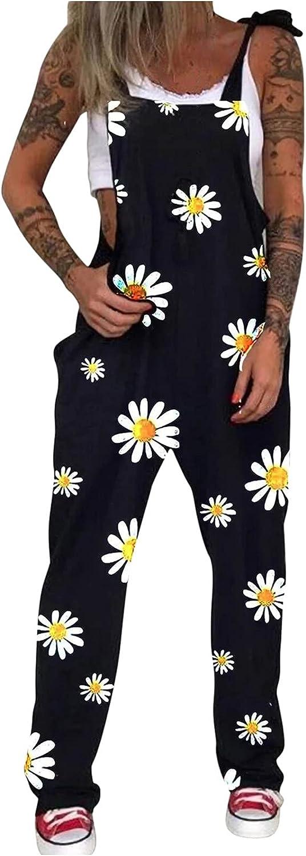 Chrysanthemum Printed Award-winning store wholesale Sleeveless Overalls Floral for Women's Pri
