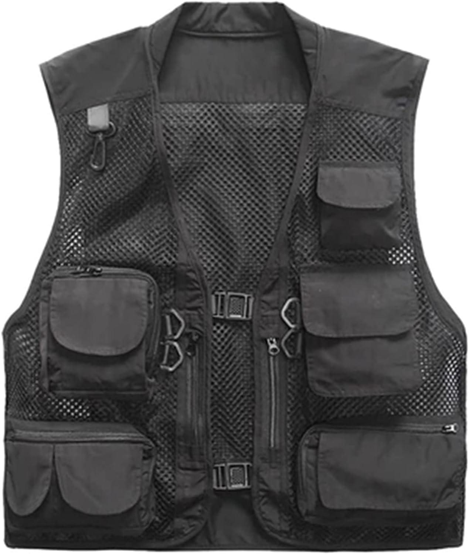 XIURAB Outdoor Fishing sale Detroit Mall Vest Multi-Pocket Sleeveless Quick