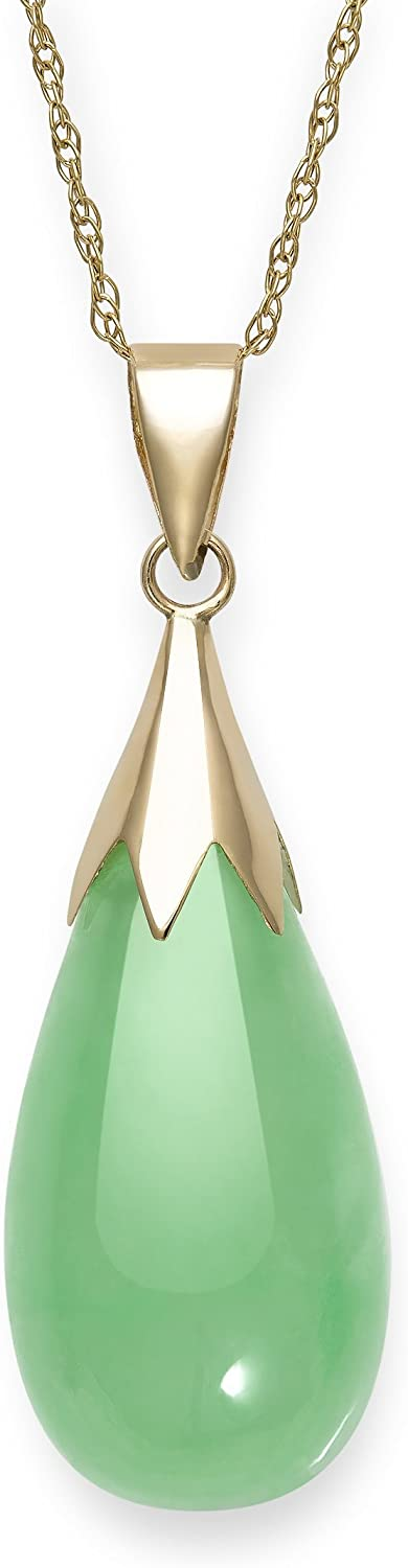 Natural online shopping Challenge the lowest price of Japan ☆ Jade Necklace Pendant 10K Gold in
