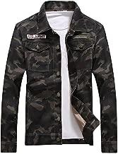 Idopy Men`s Slim Fit Military US Army Camouflage Denim Jacket