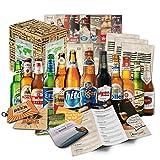 Bières du monde (12 bouteilles) spécialités internationales de bière à offrir - meilleures bières du monde avec coffret cadeau (bière + instructions de dégustation + brochure sur la bière + cadeaux brasserie + coffret cadeau)