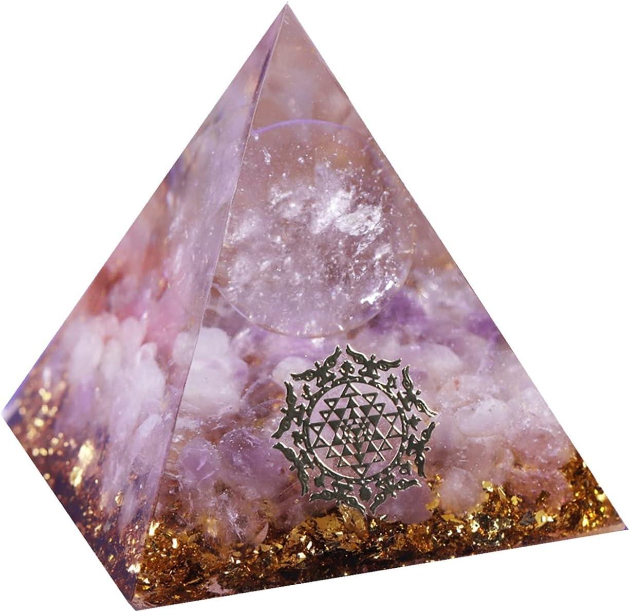 Max 87% OFF LUFEIAMZ Safety and trust Orgonite Pyramid Healing Sphere E Quartz Orgone