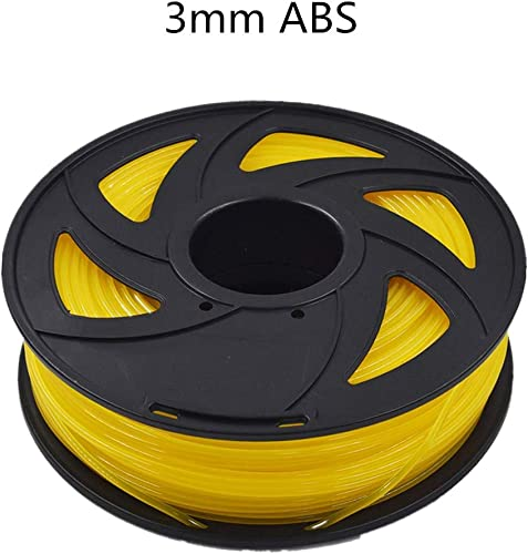 new arrival ABS popular 3D Printer Filament - 2.20 lb outlet online sale (1KG) The Diameter of 3.00 mm, Dimensional Accuracy ABS Multiple Color (Transparent Yellow) online sale